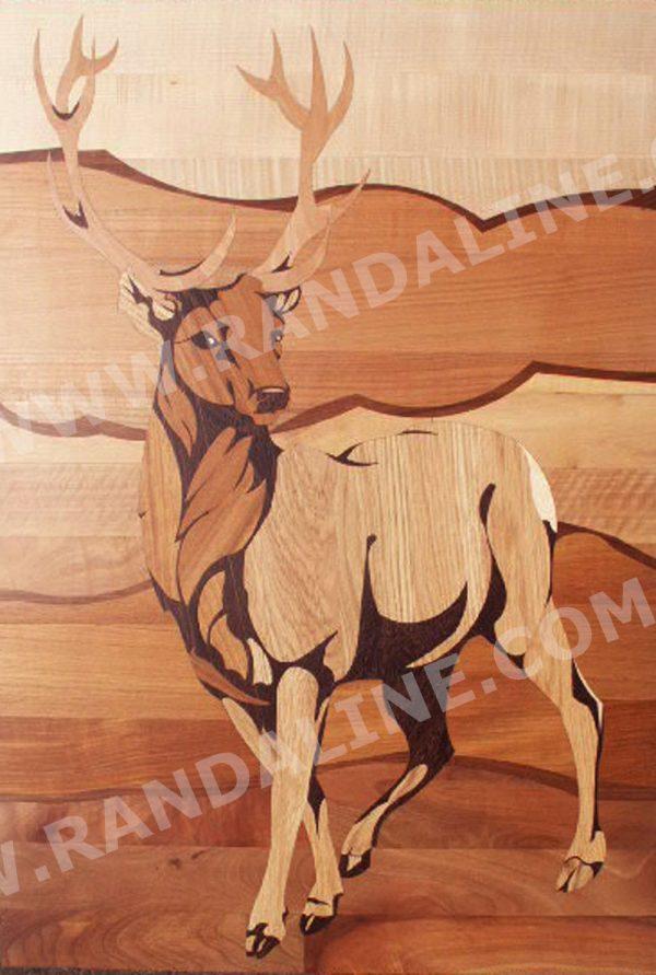 randaline decori cervo - Pavimenti in legno intarsiato Randa Line