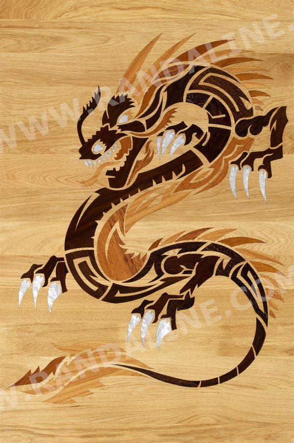 randaline decori drago - Pavimenti in legno intarsiato Randa Line