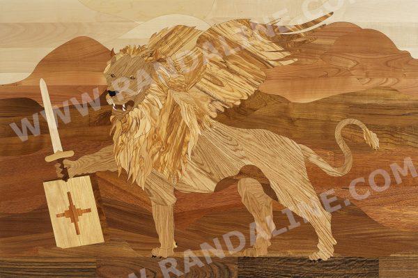randaline decori leone - Pavimenti in legno intarsiato Randa Line