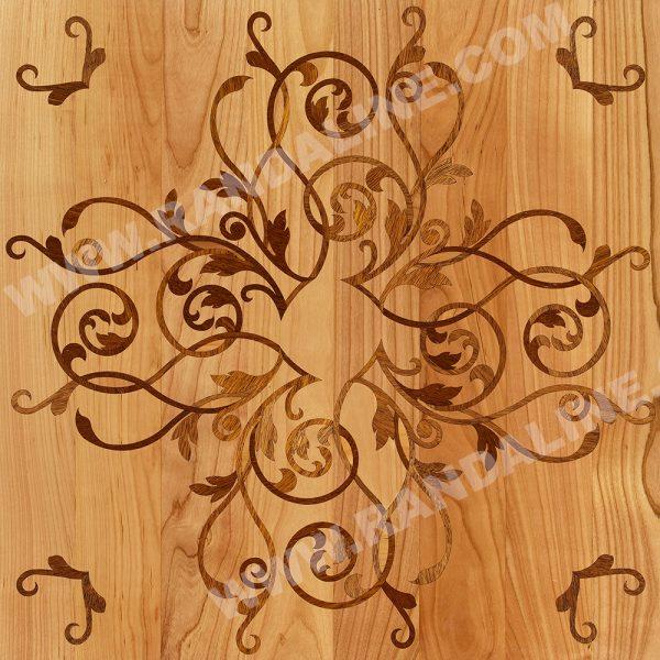 randaline quadrotta intarsiata lucerna - Pavimenti in legno intarsiato Randa Line