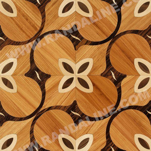 randaline quadrotta intarsiata sanzibio - Pavimenti in legno intarsiato Randa Line