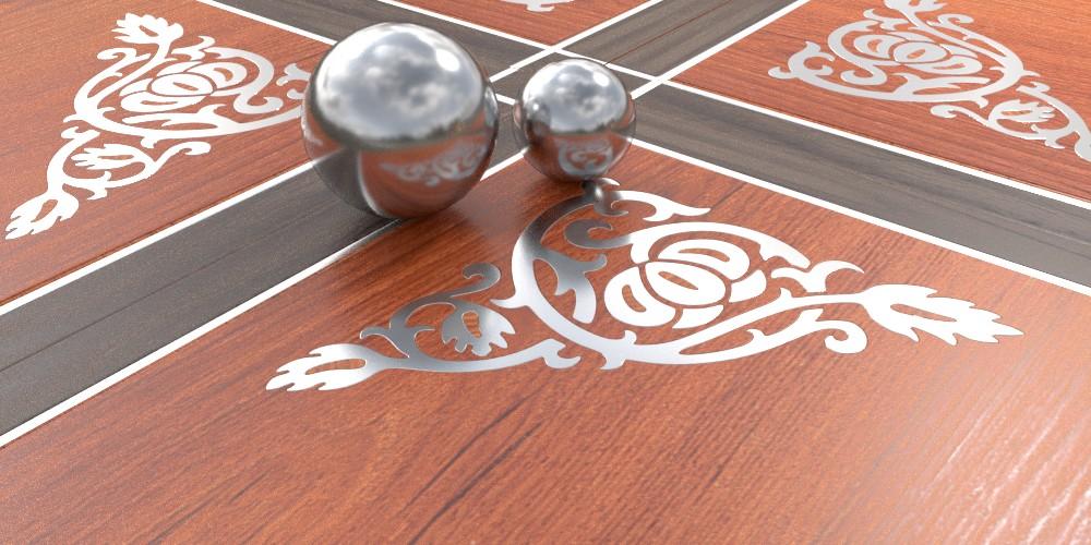 randaline metallo acciaio - Pavimenti in legno intarsiato Randa Line