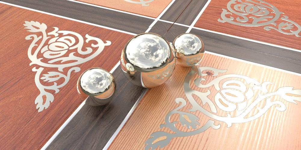 randaline metallo alluminio - Pavimenti in legno intarsiato Randa Line