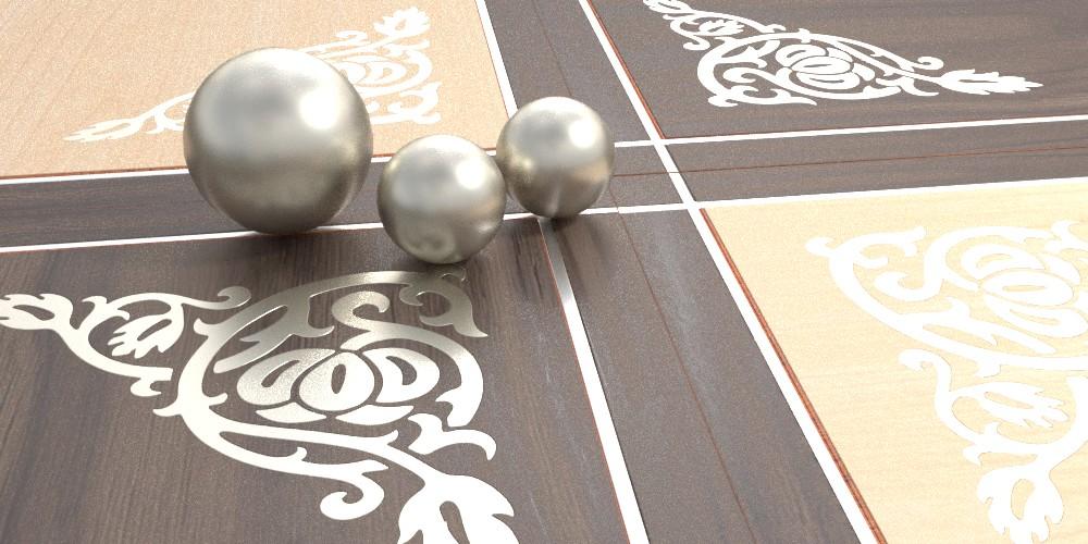 randaline metallo argento - Pavimenti in legno intarsiato Randa Line
