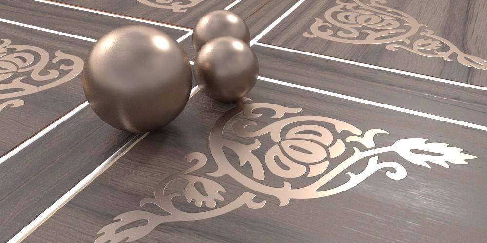randaline metallo bronzo - Pavimenti in legno intarsiato Randa Line