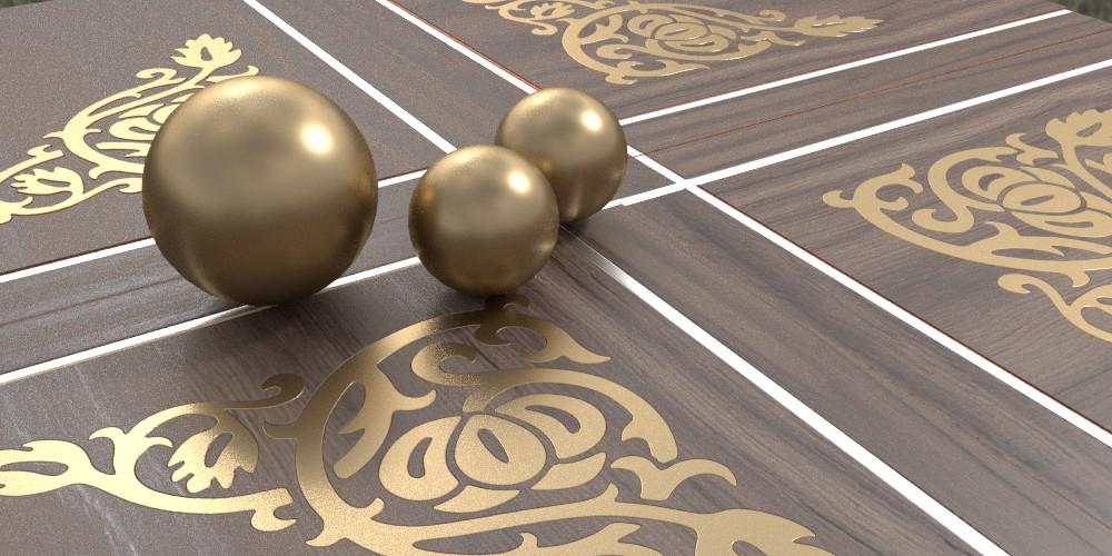 randaline metallo ottone - Pavimenti in legno intarsiato Randa Line