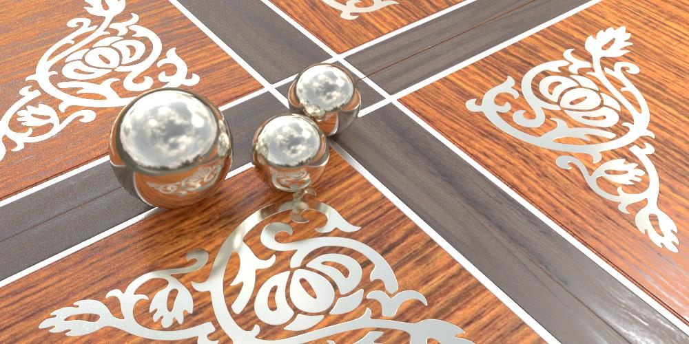 randaline metallo stagno - Pavimenti in legno intarsiato Randa Line