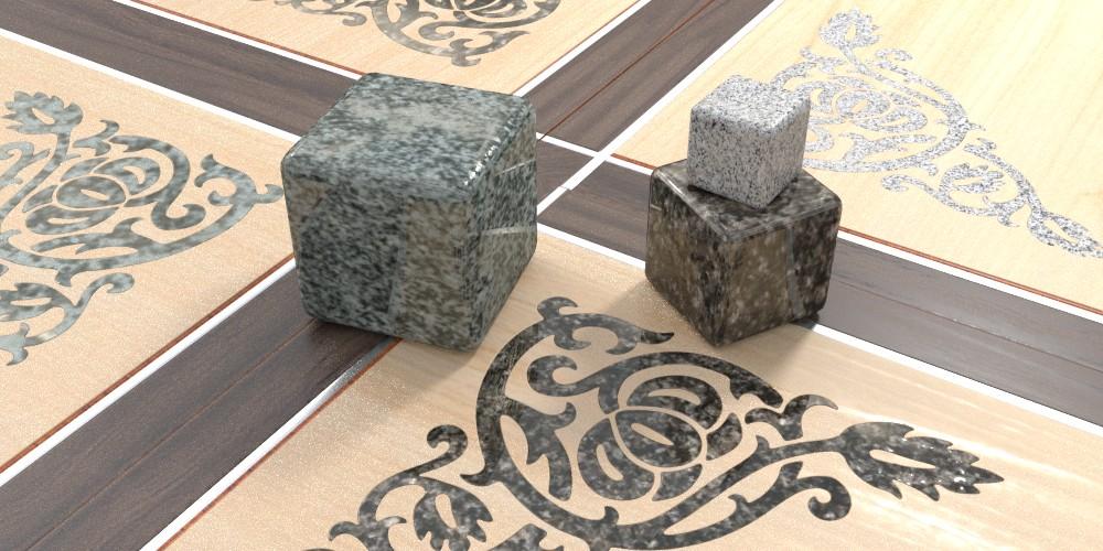 randaline pietra granito - Pavimenti in legno intarsiato Randa Line