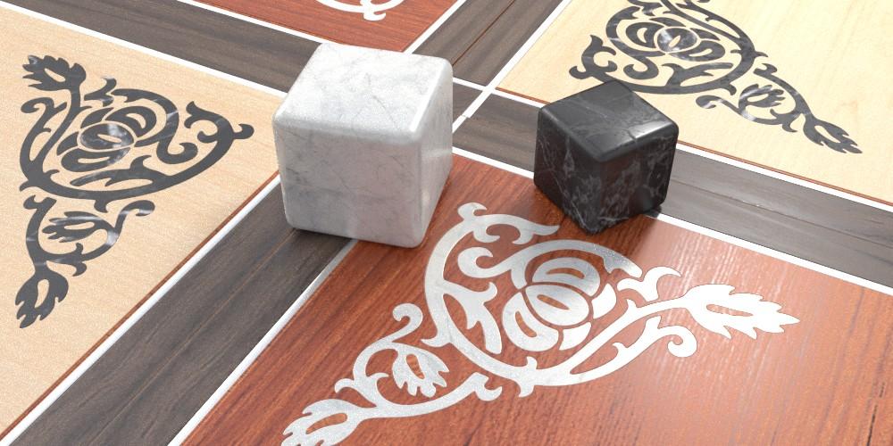 randaline pietra marmo - Pavimenti in legno intarsiato Randa Line
