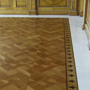 quadrotte geometriche per pavimenti in legno